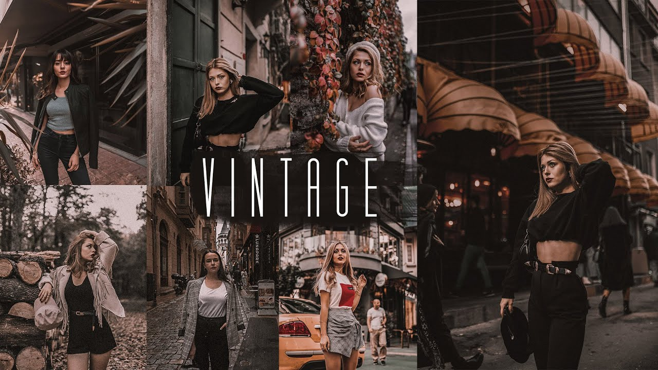 Photoshop Color Grading Tutorial – Dark Vintage Camera Raw Presets Free