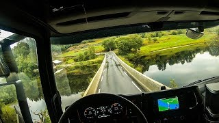 POV Driving Scania S520 - Beautiful country roads of western Norway