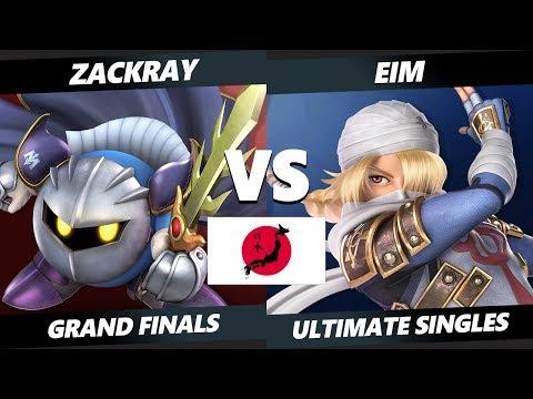 Japan Smash Ultimate Tournament - Zackray (Meta Knight) Vs. Eim [L] (Sheik) SSBU Grand Finals