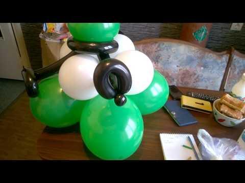 Как делали фигуру из шариков СОЛДАТ в Краснодаре - КотШарик ру