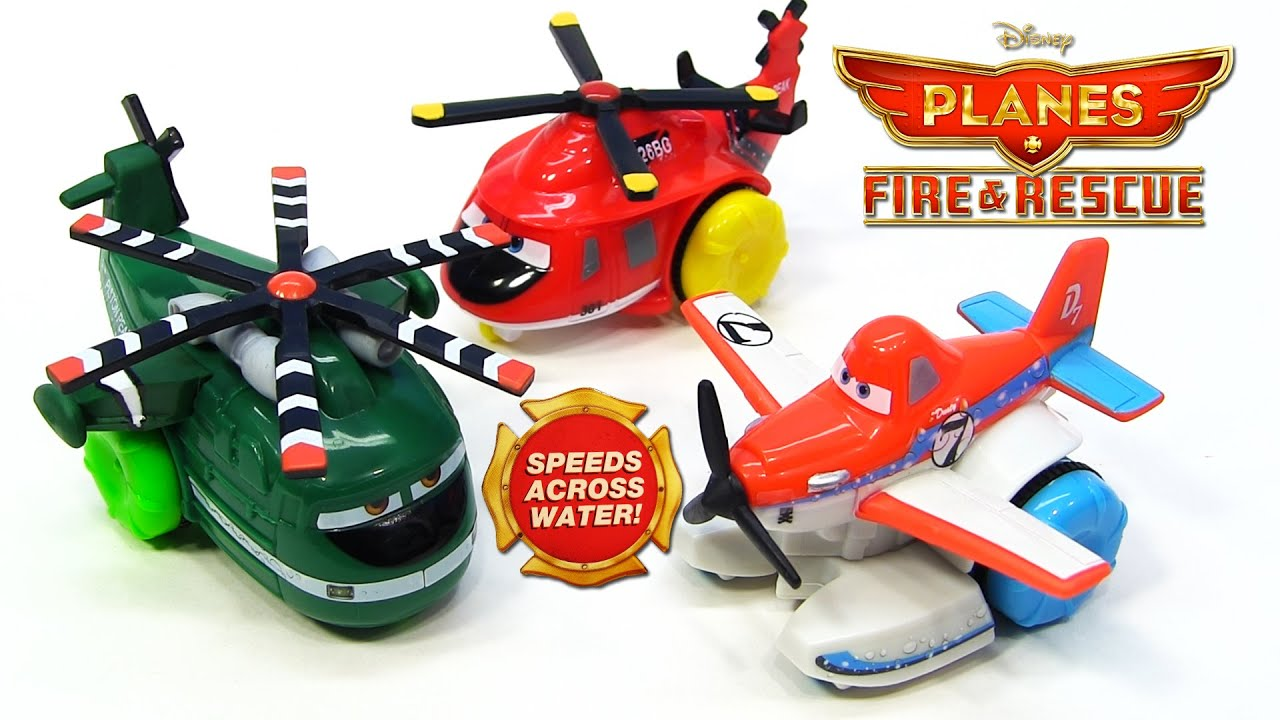 3 New Disney Planes Fire and Rescue Hydro Wheels Pontoon Dusty