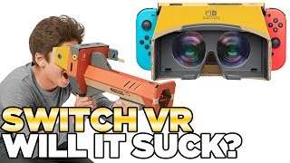 Nintendo Switch VR with Cardboard. Labo VR.