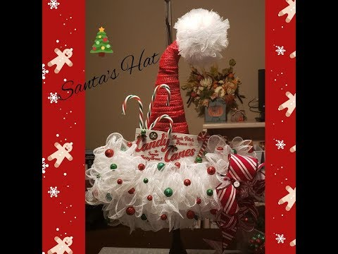 Dollar Tree Santa Hat Wreath