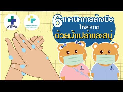 6 ขั้นตอนการล้างมืออย่างถูกวิธี
