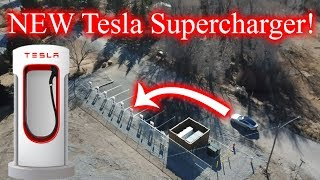 We Found Another NEW Tesla Supercharger!