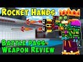 Pixel Gun 3D ROCKET HANDS Weapon Review Gameplay - PG3D Battle Pass