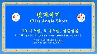 당구 3쿠션 - 빗겨치기 (bias angle shot)