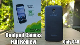 CoolPad Canvas Cricket Wireless Full Review a good Smartphone for only $40