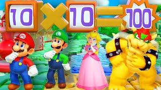 Super Mario Party - Minigames - Mario vs Luigi vs Peach vs Bowser