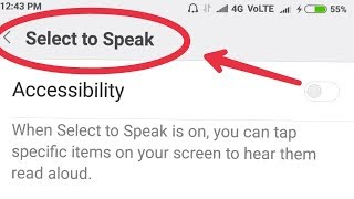 How To Enable Select to Speak And Use This Feature in Xiaomi...