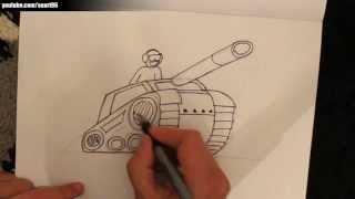 Como dibujar un tanque de guerra t 14 ruso paso a paso for Tanques para cachamas