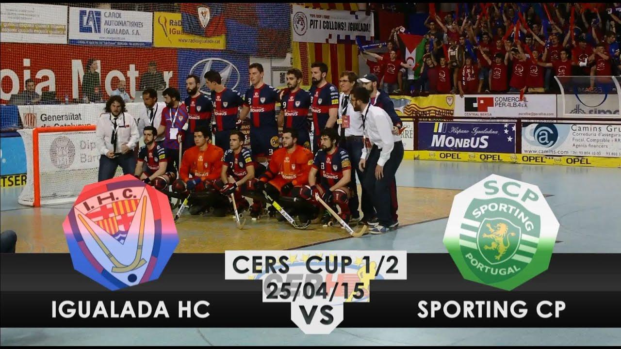 Hoquei Patins :: Igualada - 2 x Sporting - 3 (AP) de 2014/2015 1/2 Final Taça CERS