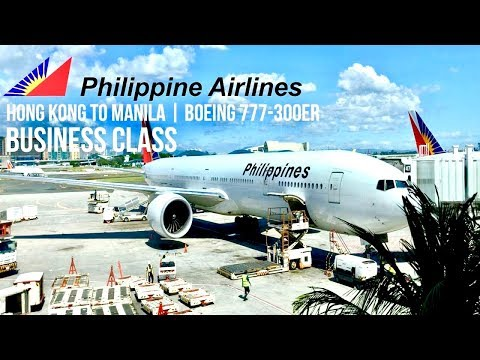 Philippine Airlines Business Class Hong Kong to Manila | Boeing 777-300ER
