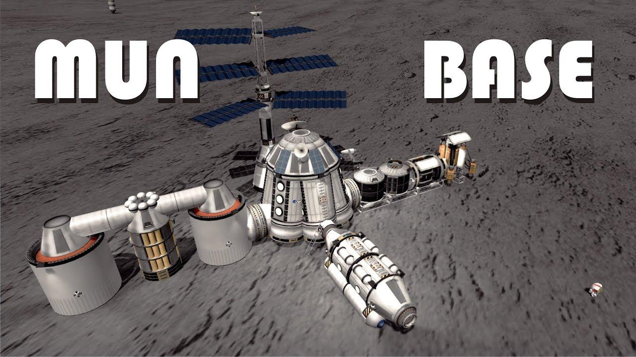 Building an Epic Mun Base (stock) - KSP 1 3 1
