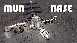 Building an Epic Mun Base (stock) - KSP 1.3.1