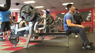 410 RAW bench press at 154lb 154 body weight with rep scheme 3-23-15