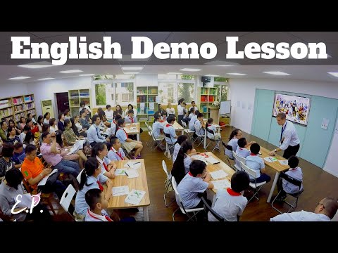 English Demo Lesson (with commentary)