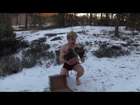 Homeless man finds fresh pair of timbs in the woods (Social experiment unboxing)