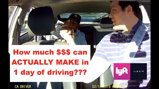 Can you REALLY make $300 A DAY driving UBER/LYFT? - Episode 2 - [2019]