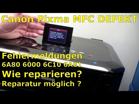Canon Pixma error code 6A80 6A81 6000 6C10 FIX - [English subtitles]