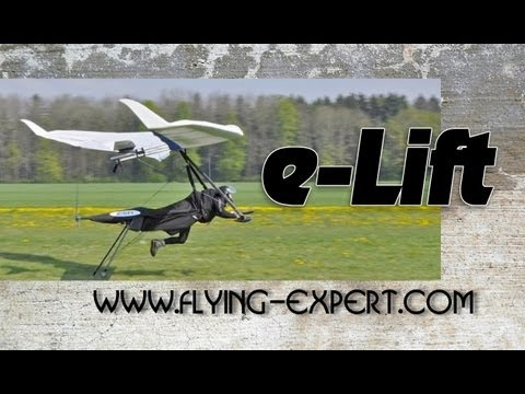 e-LIFT hang glider electric propulsion system from electricsports.