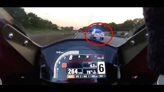 POLICE CHASE MOTORCYCLES at + 200 mph