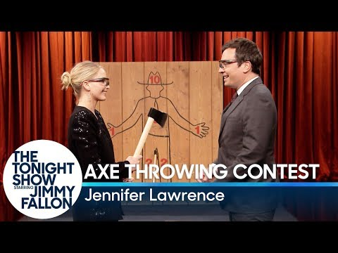 Jennifer Lawrence Challenges Jimmy to an...