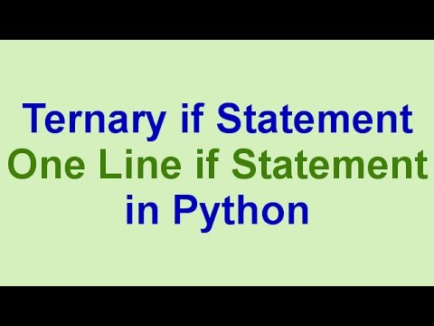 Python Tips & Tricks: One Line if Statements (Ternary if Statement)