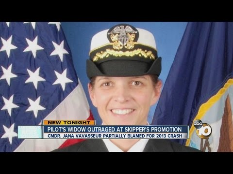 Navy widow outraged over promotion of commanding officer