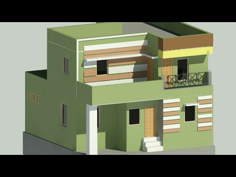 Exterior Elevation Of A Two Storey House Using Extrude In Revit