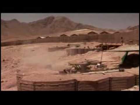 Australian soldiers fire mortars at the Taliban