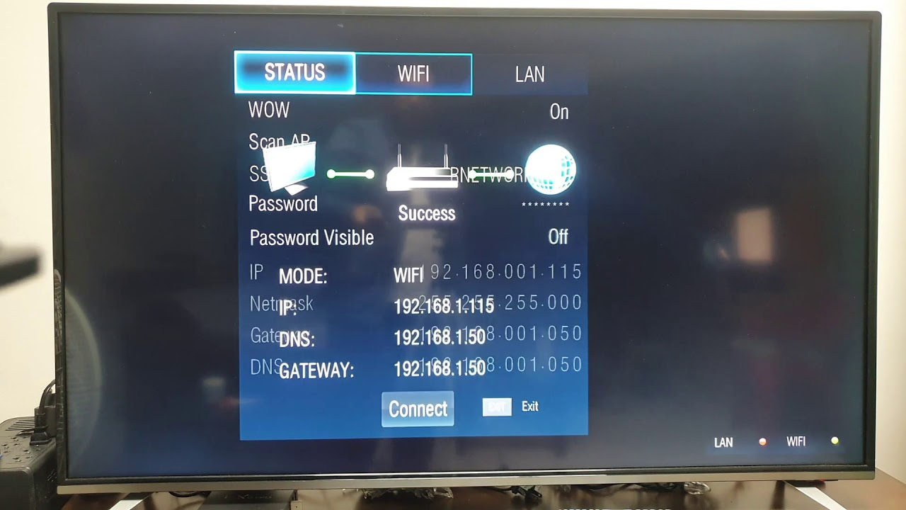 How to connect WIFI on JVC Smart TV