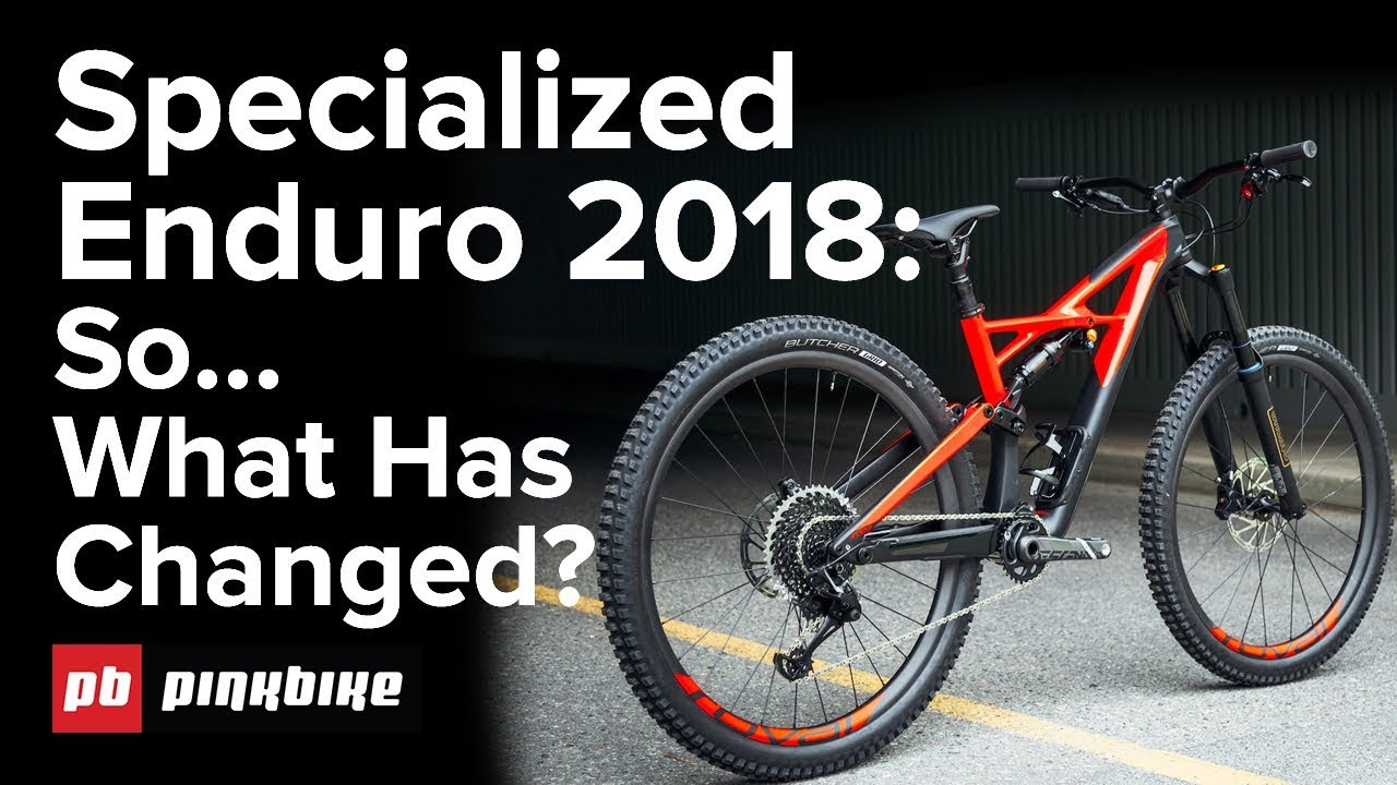 new specialized enduro 2018 vs 2017 what is the. Black Bedroom Furniture Sets. Home Design Ideas