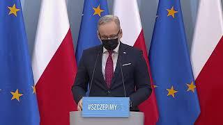 Konferencja prasowa premiera Mateusza Morawieckiego oraz ministra zdrowia Adama Niedzielskiego.