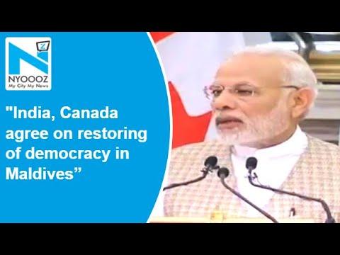 Joint PC Of India, Canada: PM Modi On Maldives Issue | NYOOOZ TV