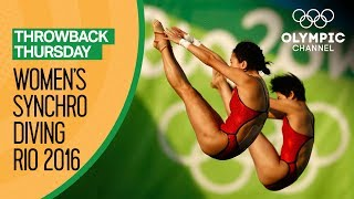 Women's Synchronised Diving 10m Platform  Rio Replays   Throwback Thursday