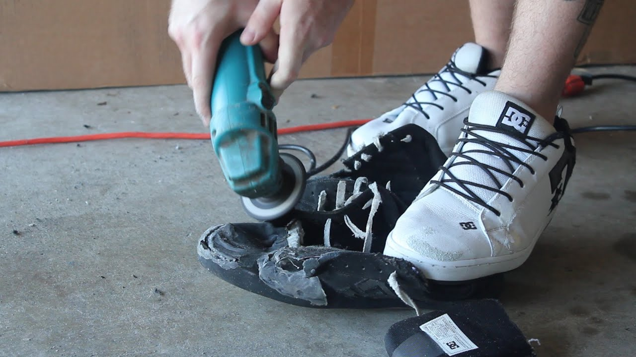 First skate shoes DESTROYED!!!! - YouTube
