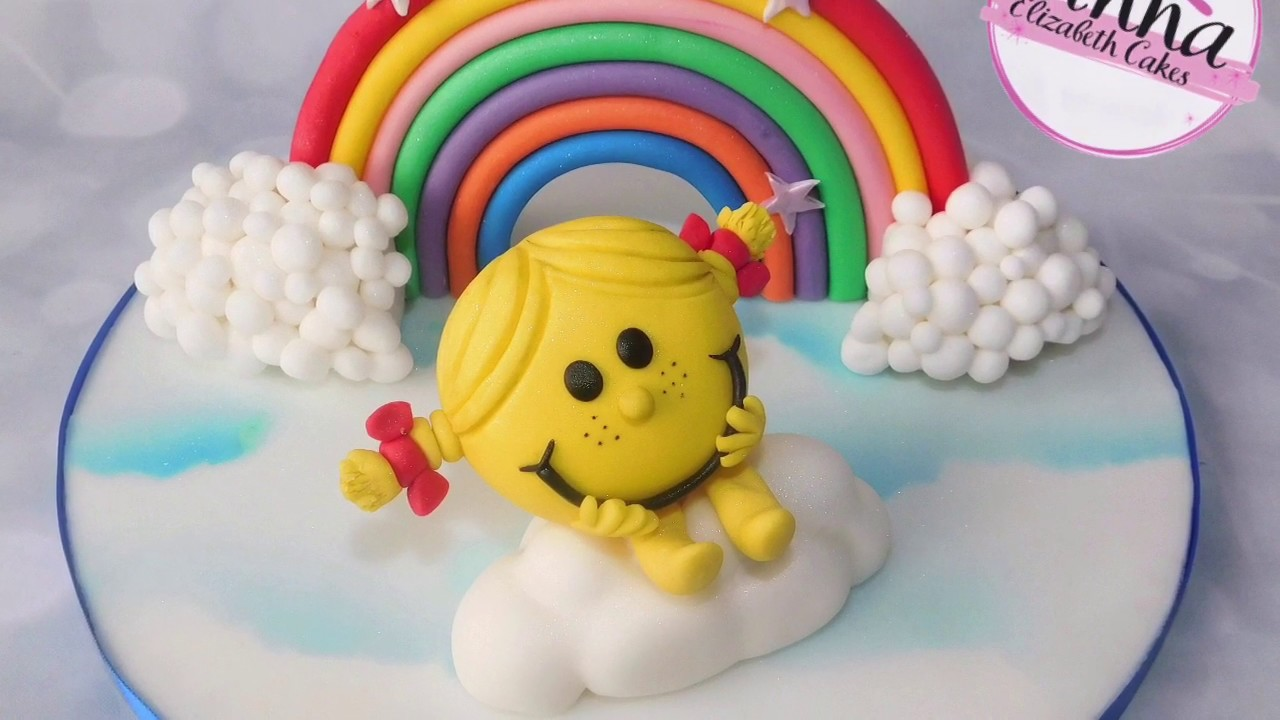 Rainbow Cake Topper | Little Miss Sunshine Cake Topper ...