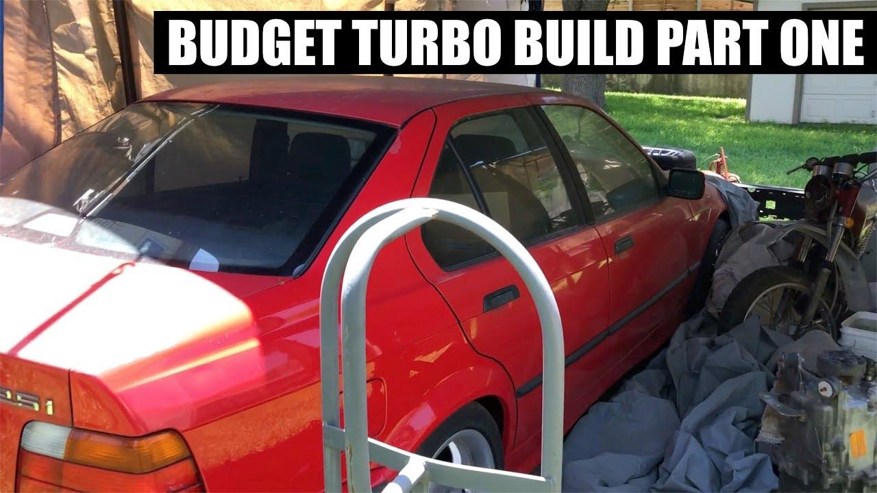 Download Super BUDGET TURBO E36 drift build!  Part 1