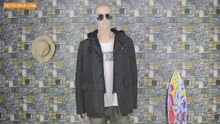 Plus size black parka jacket men outerwear OEM supplier JAK0130