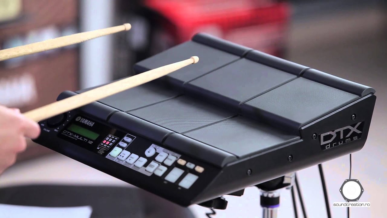 tobe electronice pad yamaha dtx multi 12 youtube