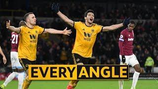 Jiménez first goal v West Ham | Every Angle