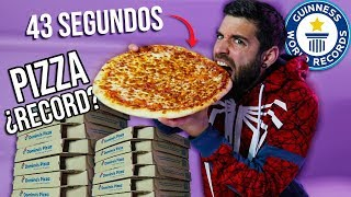 UNA PIZZA EN MENOS DE 1 MINUTO **BATIENDO RECORDS GUINNESS**