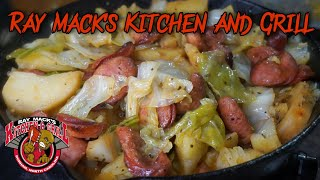20 minute Sausage Cabbage and Potato Skillet | Ray Mack's Kitchen and Grill