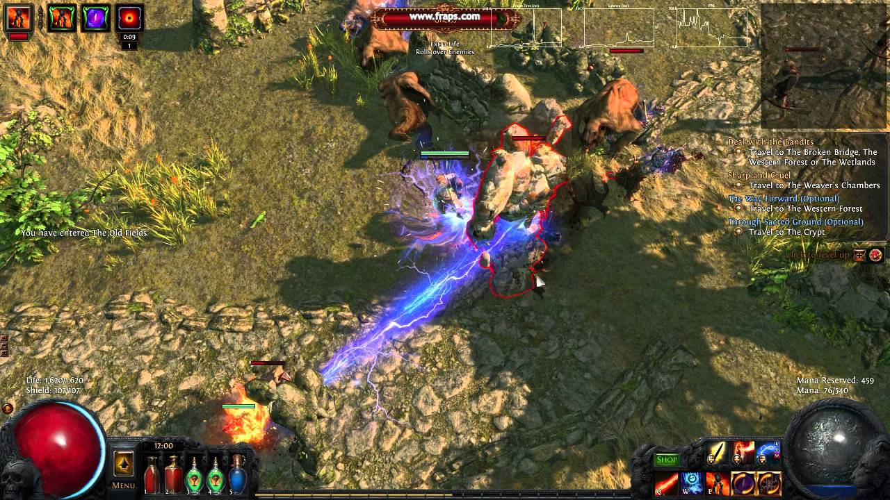 Path of Exile strange screen freeze problem, latency and frames are fine