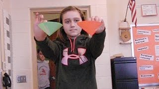 falling cones activity- aerodynamics /// Homemade science with Bruce Yeany