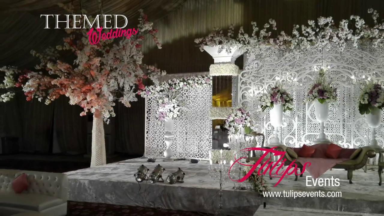 White Wedding Theme Walima Setup Decoration In Pakistan Youtube