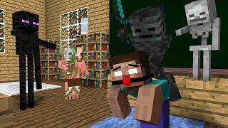 Школа монстров: Рисование - Майнкрафт анимация