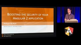philippe de ryck boosting the security of your angular 2 application ng be 2016