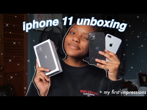 Black Iphone 11 Unboxing, Set Up & First Impressions!